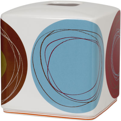 Creative Bath™ Dot Swirl Ceramic Boutique Tissue Holder