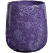 Creative Bath™ Fine Lines Ceramic Wastebasket