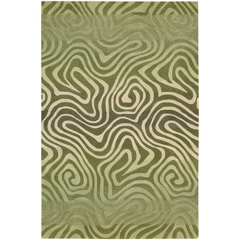 Nourison® Fun Maze Carved Rectangular Rug