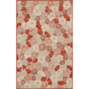 Martha Stewart Rugs™ Poppy Field Rectangular Rugs – Cayenne Red