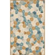 Martha Stewart Rugs™ Poppy Field Rectangular Rugs – Cornucopia Beige