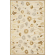 Martha Stewart Rugs™ Poppy Glossary Rectangular Rugs – Nutshell Brown