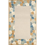 Martha Stewart Rugs™ Poppy Border Rectangular Rugs – Cornucopia Beige
