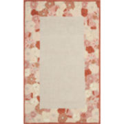 Martha Stewart Rugs™ Poppy Border Rectangular Rugs – Cayenne Red