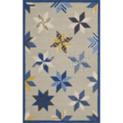 Martha Stewart Rugs™ Lemoyne Star Rectangular Rugs – Azurite Blue