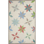 Martha Stewart Rugs™ Lemoyne Star Rectangular Rugs – Pewter Gray