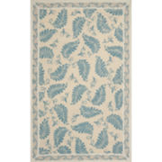 Martha Stewart Rugs™ Fern Frolic Rectangular Rugs – Plumage Blue