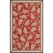 Martha Stewart Rugs™ Fern Frolic Rectangular Rugs – Saffron Red