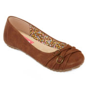 Pop Nelly Buckle Accent Ballet Flats - Wide Width