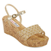 2 Lips Too Kale Cork Wedge Sandals