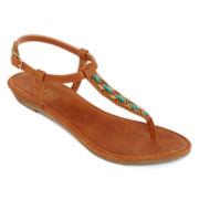 a.n.a® Gilbert Beaded T-Strap Sandals