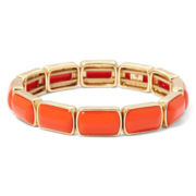 Liz Claiborne® Orange Stone Gold-Tone Stretch Bracelet
