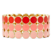 Liz Claiborne® Orange Stretch Bracelet