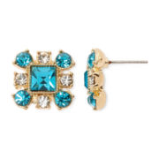 Monet® Blue Stone Gold-Tone Cluster Stud Earrings