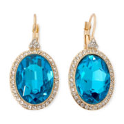 Monet® Blue Stone Gold-Tone Drop Earrings