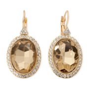 Monet® Brown Stone Gold-Tone Drop Earrings
