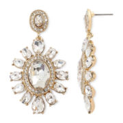Monet® Crystal Gold-Tone Drop Earrings