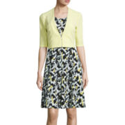 Perceptions Sleeveless Print Fit-and-Flare Dress