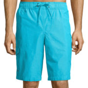 St. John's Bay® Solid Microfiber Swim Trunks