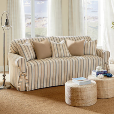 jcpenney.com | SURE FIT® Harbor Stripe 1-pc. Sofa Slipcover