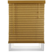 "Cut-to-Width 2"" Textured Faux-Wood Blinds"