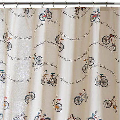 HipStyle Milo Cotton Printed Shower Curtain - JCPenney