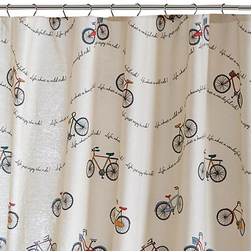 HipStyle Milo Cotton Printed Shower Curtain