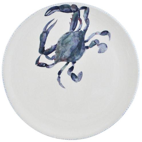 Abbiamo Tutto Blue Crab Round Ceramic Serving Platter