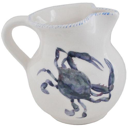 Abbiamo Tutto Blue Crab 34-oz. Ceramic Pitcher