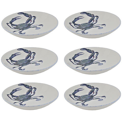 Abbiamo Tutto Blue Crab Set of 6 Ceramic Soup Bowls