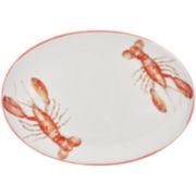 Abbiamo Tutto Lobster Oval Ceramic Serving Platter