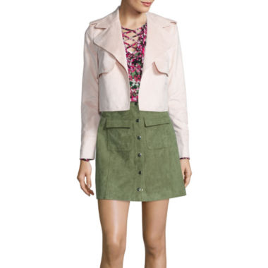 jcpenney.com | I 'Heart' Ronson Lace-Up Blouse, Faux-Suede Military Jacket or Faux-Suede Military Skirt