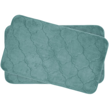 "jcpenney.com | Bounce Comfort Faymore Memory Foam 17x24"" 2-pc. Bath Mat Set"