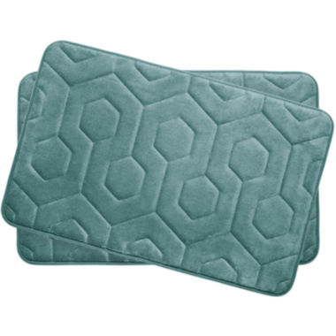 "jcpenney.com | Bounce Comfort Hexagon Memory Foam 17x24"" 2-pc. Bath Mat Set"