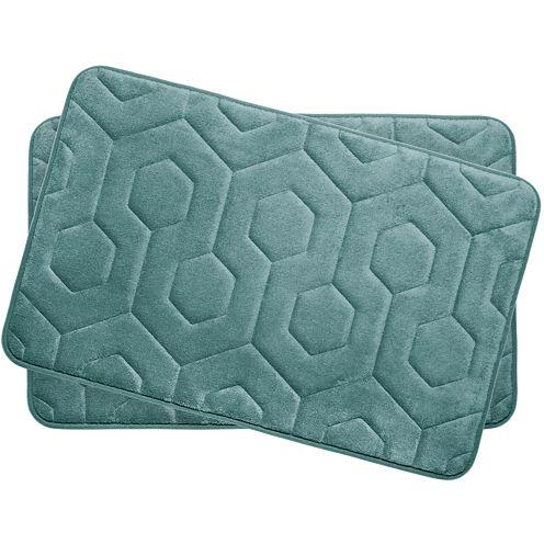 "Bounce Comfort Hexagon Memory Foam 17x24"" 2-pc. Bath Mat Set"
