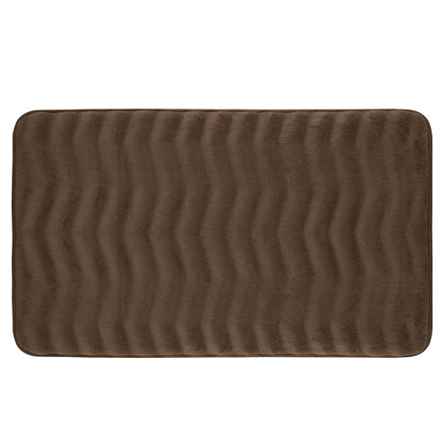 Bounce Comfort Waves Memory Foam Bath Mat Collection