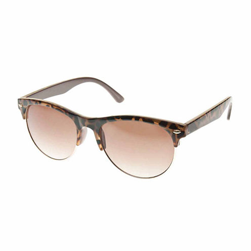 Nicole By Nicole Miller Round UV Protection Sunglasses