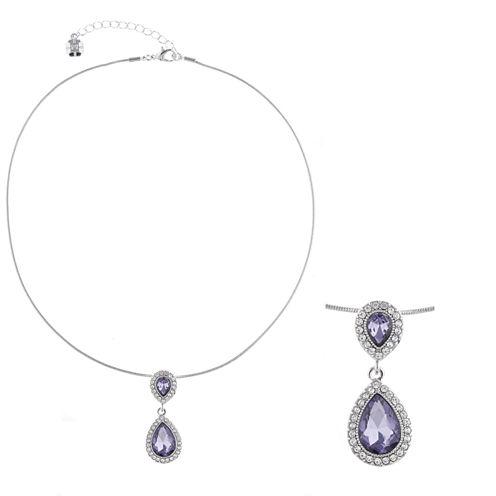 Monet Jewelry Womens Purple Pendant Necklace