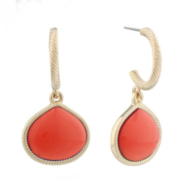 jcpenney.com | Monet Jewelry Orange Drop Earrings