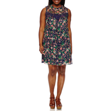 jcpenney.com | My Michelle Sleeveless A-Line Dress-Juniors Plus