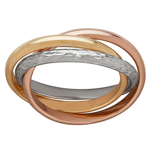 Womens 10K Gold Crossover Ring