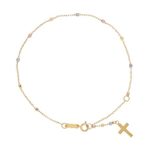 Womens 8 Inch 14K Gold Link Bracelet