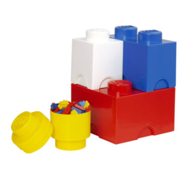 jcpenney.com | 4 Piece Multi Pack Storage Brick Lego Toy Box
