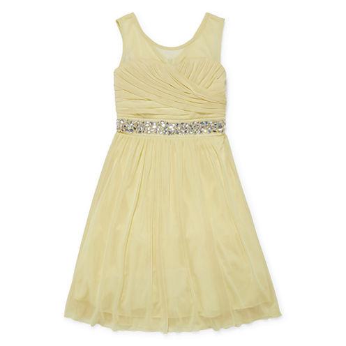 Speechless Beaded Sleeveless Fit & Flare Dress - Big Kid Girls