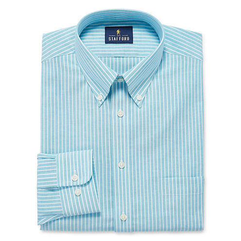 Stafford Fitted Long Sleeve Dress Shirt