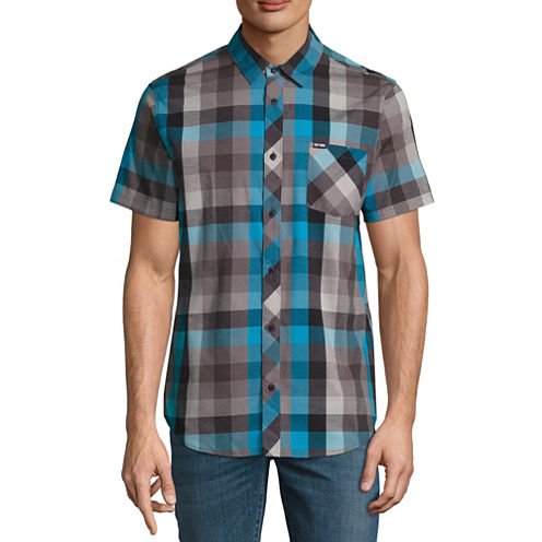 Zoo York Short Sleeve Plaid Button-Front Shirt