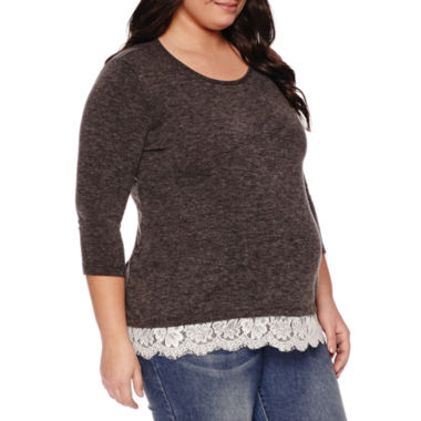 jcpenney.com | 3/4 Sleeve Scoop Neck Pullover Sweater-Maternity