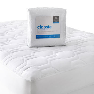 jcpenney home classic mattress pad bamboo terry mattress pad classic design at brookstone