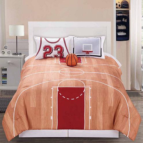Riverbrook Home B-Ball 4-pc. Midweight Reversible Comforter Set