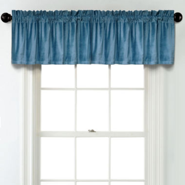 jcpenney.com | JCPenney Home Velvet Rod Pocket Blackout Lined Tailored Valance
